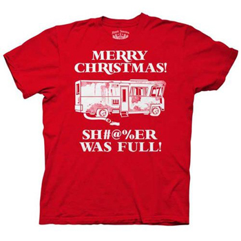 "National Lampoon's Christmas Vacation Cousin Eddie ""Merry Christmas SH#@%ER WAS FULL"" T-Shirt ($18)"