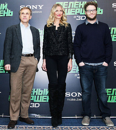 Pictures of Cameron Diaz, Christoph Waltz, and Seth Rogen in Moscow 2010-12-08 15:00:00