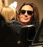 Pictures of Jolie-Pitts Leaving NYC