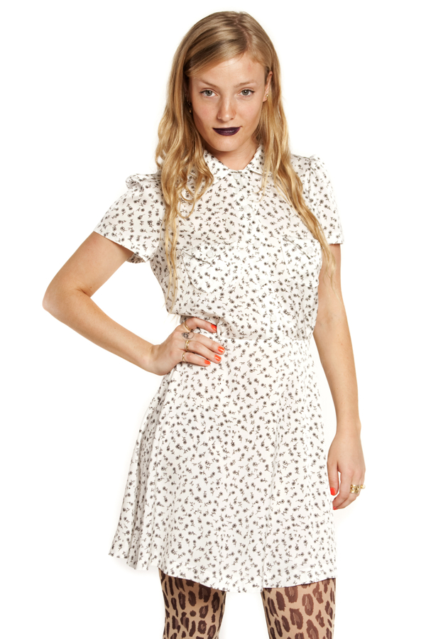 Lesley peter pan collar flared dress in floral