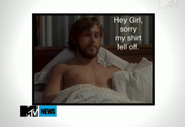Ryan Gosling Reciting Hey Girl Quotes