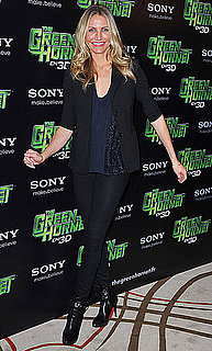 Pictures of Cameron Diaz and Christoph Waltz at a Green Hornet Photo Op in Paris 2010-12-09 07:00:00