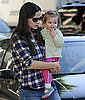 Pictures of Jennifer Garner, Violet Affleck, and Seraphina Affleck at Color Me Mine in Brentwood