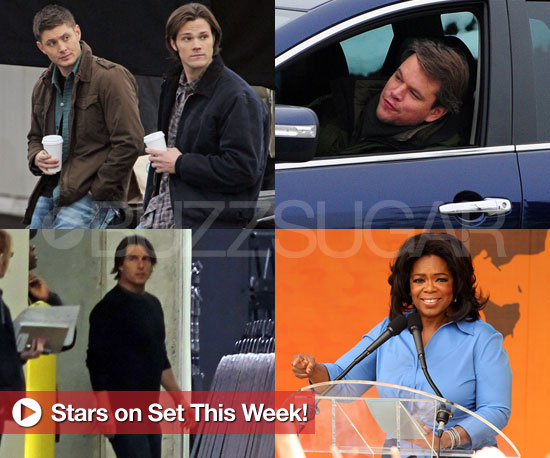 Matt Damon, Oprah, Tom Cruise, The Cast of Supernatural, and More Stars on Set This Week!
