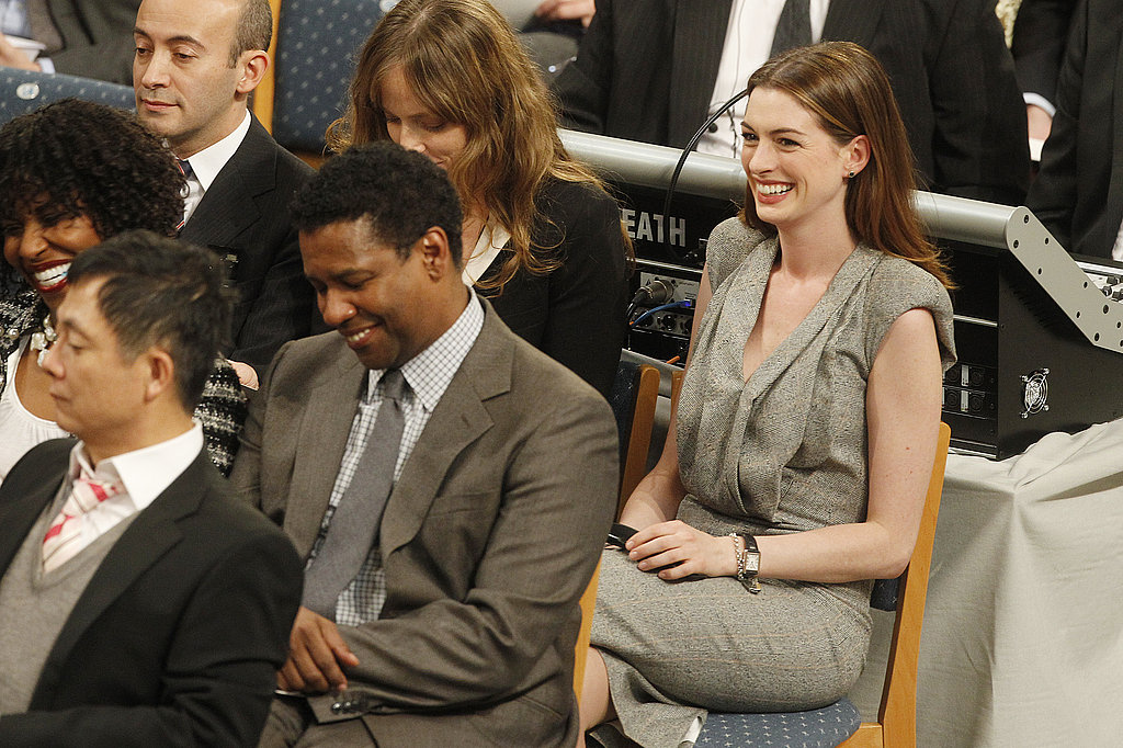 Pictures of Denzel Washington and Anne Hathaway