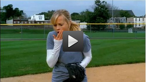 Video of Reese Witherspoon Getting Hit by a Softball