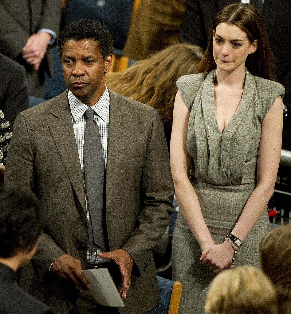 Pictures of Anne Hathaway and Denzel Washington at the Nobel Peace Prize Ceremony in Oslo, Norway