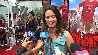 Video of Emily Blunt Talking About Spending the Holidays With John Krasinski