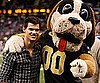 Slide Picture of Taylor Lautner at New Orleans Saints Game