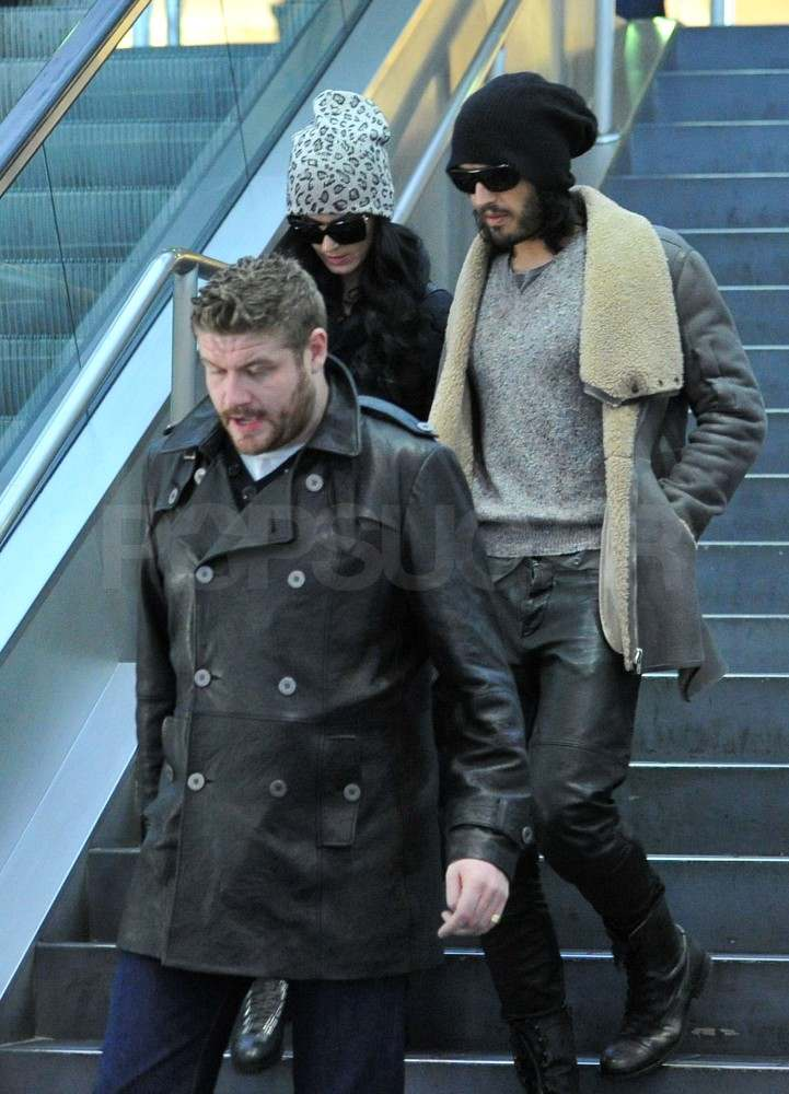 Katy Perry and Russell Brand Return to LA For Their First Holiday Season