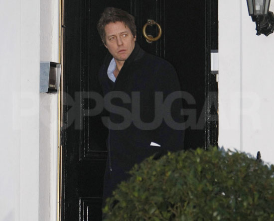 Pictures of Hugh Grant Leaving Elizabeth Hurley's House Following Her Breakup From Arun Nayar