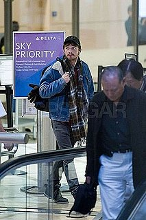 Pictures of Shia LaBeouf Departing Out of LAX With Scruffy Facial Hair
