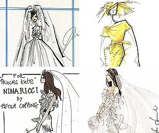 Kate Middleton Wedding Dress Sketches Revealed and Other Fashion News