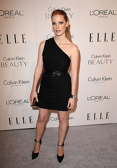 Sleek and pulled back in a modern LBD.
