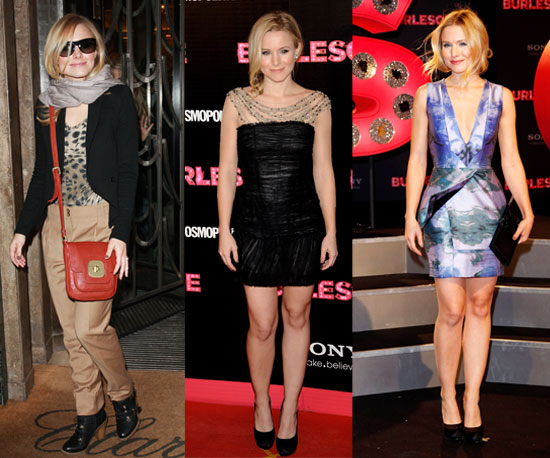 Kristen Bell Turns Up Her Style Dial For the Burlesque Press Tour