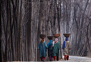 Kashmir Women Walking in Subzero Temperatures