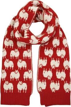 See by Chloé Wide Sheep-Intarsia Wool-Blend Scarf  ($90, originally $180)