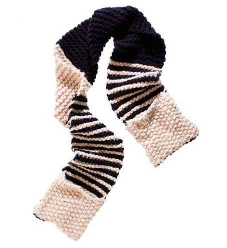 Wool and the Gang Striped Jolly Pocket Scarf ($189)