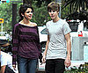 Slide Picture of Justin Bieber and Selena Gomez in Miami