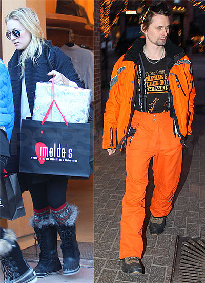Pictures of Kate Hudson and Matt Bellamy in Aspen For Christmas
