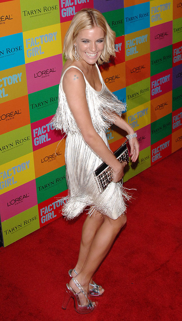 Sienna unleashed her inner flapper at the NYC premiere of Factory Girl in 2007.