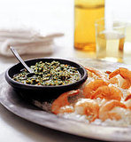 Salt-Roasted Prawns With Lemon Pesto