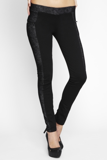 Contrast-Panel Zipper Legging ($48, originally $78)