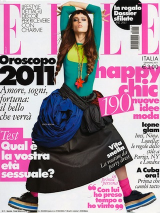 Coco Rocha on the Cover of Elle Italia January 2011