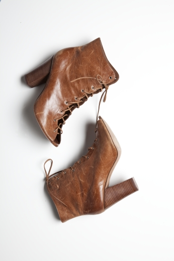 Open Toe Lace-Up Bootie ($79, originally $118)
