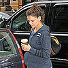 Pictures of Katie Holmes Working Out on Her Birthday