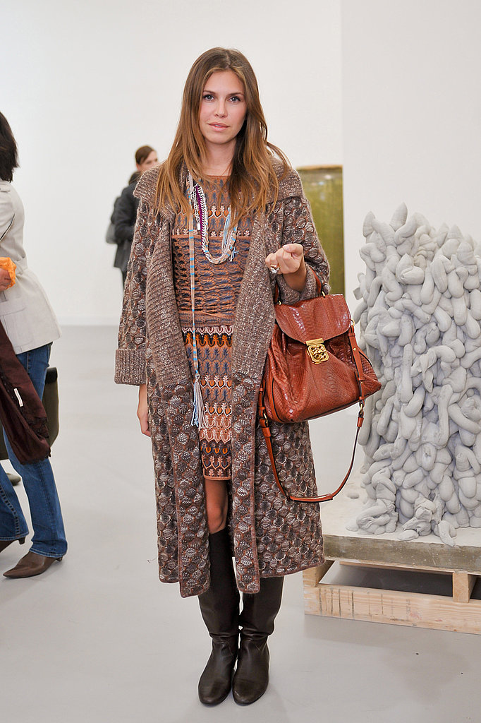 Dasha Zhukova in Missoni at the Freize Art Fair.