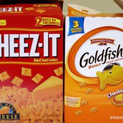Cheez-Its vs. Goldfish Crackers