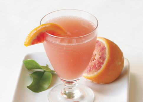 Blood Orange Champagne Sparkler