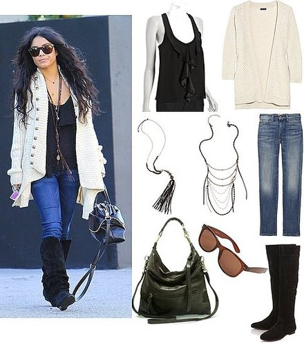 Vanessa Hudgens Goes Boho Casual For Walk in LA