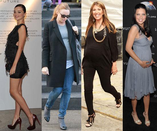 Pregnant Models Designers 2010 Hannah Millward (L R) Pregnant models Rachel Schalz and Hannah Millward of ...