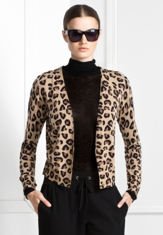 Leopard-Print Cardigan ($95, originally $158)
