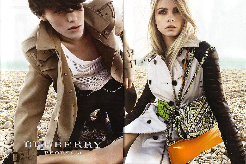 Tali Lennox, Cara Delevigne for Burberry, by Mario Testino
