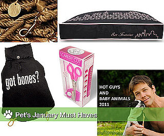 Hot Guys and Baby Animals, FOUND Rope Leash, Got Bones? Jacket, Scaredy Cut and P.L.A.Y.