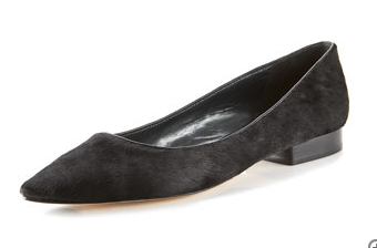 La Fenice Pony Hair Flat ($129, originally $179)