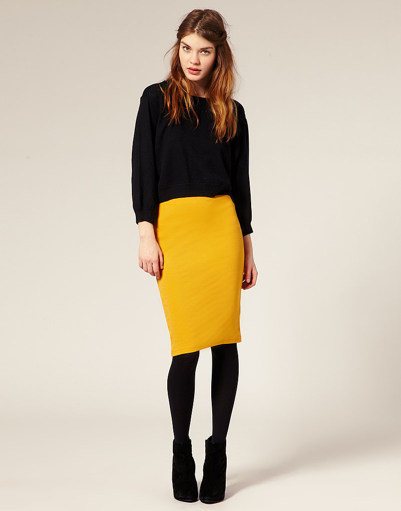 Asos Ribbed Jersey Pencil Skirt ($35)