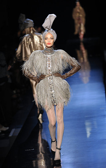 Strutting her stuff at Jean Paul Gaultier Couture.