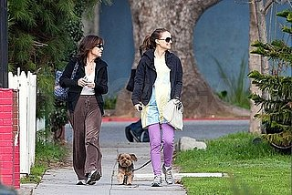 Pictures of Pregnant Natalie Portman Hanging Out With Her Mom and Dog