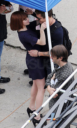 Pictures of Ryan Phillippe and Amanda Seyfried Hugging on the Set of Her Movie Now in LA