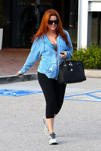 Pictures of Khloe Kardashian Arriving at the Gym in LA