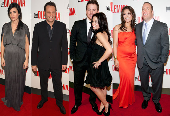 Pictures of Winona Ryder, Vince Vaughn, Channing Tatum, Jennifer Connelly, Kevin James at the Chicago Premiere of The Dilemma