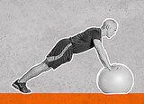 Plank With Ball