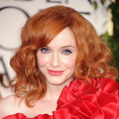 Christina Hendricks at Golden Globes 2011