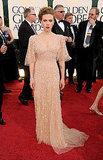 Scarlett Johansson Sparkles in Elie Saab on First Post-Split Red Carpet