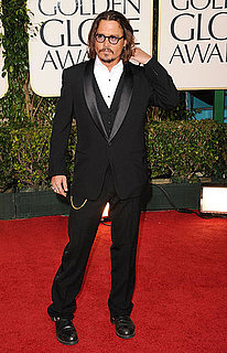 Pictures of Johnny Depp on Golden Globe Awards Red Carpet 2011-01-16 17:10:48