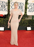 Heather Morris went the nude route in a body-con, floor-length sheath.